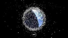 Space Debris: 1957 - 2015 // The Data Visualization Of Earth's Space Junk Shows Just How Messy Humans Are