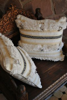 Beyond Marrakech: Traditional wedding blankets used for pillows, bed throws, and wall hangings