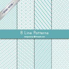 Variedade de padrões de linhas