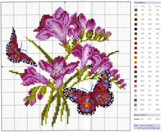 Flowers & Butterflies #cross stitch afs19/5/13