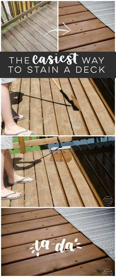 Tips on wooden deck