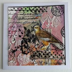 Fasters korthus: Botanical Birds on watercolour Serie cards 9