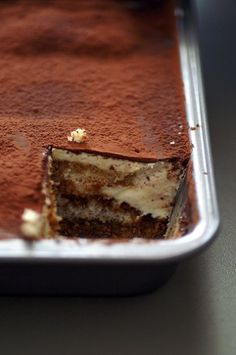 Vegan tiramisu made from scratch, no cream cheese necessary.
