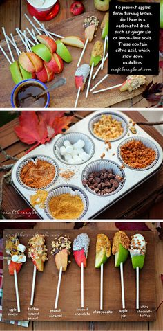 25 Tasty Caramel and Candy Apples - caramel apple bar - YUM!