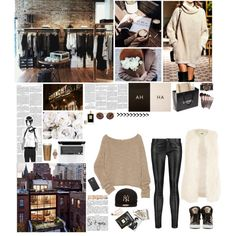 A fashion look from December 2015 featuring The Row sweaters, Maje pants and Chanel tote bags. Browse and shop related looks.
