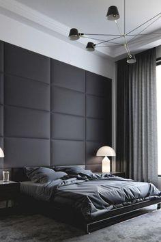 Cool Masculine Bedroom for Mens Black Bedroom