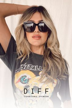 The statement making sunglasses you need. DIFF sunglasses are handcrafted with premium materials, loved by influencers, and adored by customers! Let's Make A Difference Together. Good Hair Day, Love Hair, Great Hair, White Blonde Highlights, Hot Hair Colors, Hair Color Techniques, Pretty Hairstyles, Easy Hairstyles, Wedding Hairstyles