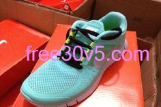 Half Off Nikes $49.88, Mint Green Nike Free Run 3 Black Lace