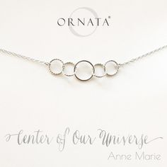 """""""Center of Our Universe"""" Personalized Sterling Silver Necklace 