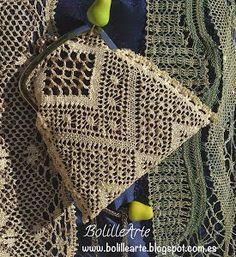 BolilleArte : Picado Monedero de encaje de bolillos