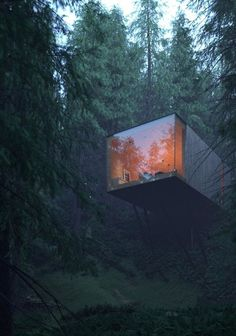 Matthias Arndt envisions exclusive cubist forest hotel complex in the Bavarian Forest
