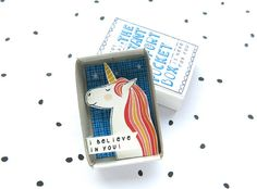 I belive in you, magic unicorn Streichholzschachtel - The Instant Komfort von kimslittlemonsters