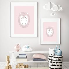 The Porcupine is printed on high-quality paper. Simply add a frame or magnetic sticks. Baby Porcupine, Hedgehogs, Baby Decor, Floating Nightstand, Flipping, Baby Room, Kids Room, Gallery Wall, Nursery