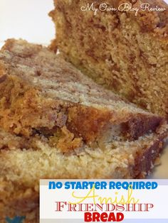 Amish Friendship Bread Without A Starter, can't tell you how long I've been looking for this recipe! www.MyOwnBlogReview.com