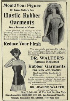 Dr Walter's Medicated Rubber Garments, The Theatre Magazine, January 1911