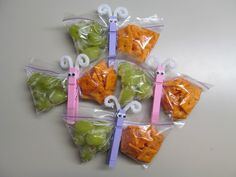 Butterfly snack bags for Hailey's baby shower
