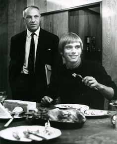 Alun Evans with Bill Shankly when he signed for Liverpool, 16 August 1968
