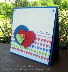 I love you! by danascott96 - Cards and Paper Crafts at Splitcoaststampers