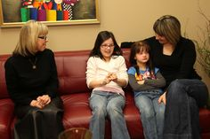 Group therapy with Wigs 4 Kids Ambassadors
