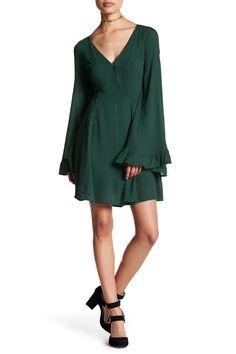 Long Ruffle Sleeve Dress by LoveRiche on @nordstrom_rack