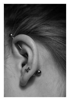vertical industrial piercing via rook