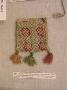 (14th C Germany) purse by Simone Hindin, via Flickr