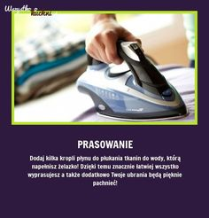 Udowadniamy, że prasowanie może być przyjemne - Sami zobaczcie!!! Simple Life Hacks, Useful Life Hacks, Diy Cleaning Products, Cleaning Hacks, Guter Rat, Life Guide, Good Advice, Kids And Parenting, Housekeeping