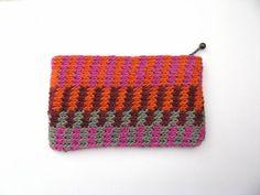 magenta orange colourway pouch - moonbasket