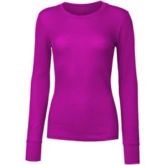 LE3NO Womens Lightweight Long Sleeve Round Neck Thermal Shirt ($9.34) ❤ liked on Polyvore featuring tops, thermal shirt, extra long sleeve shirts, lightweight shirts, long sleeve thermal top and lightweight long sleeve shirt