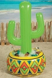 4ft Inflatable Vinyl Cactus Cooler.  Party supplies to celebrate Mexico's Independence Day.