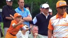 Rickie Fowler and fan