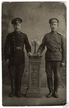 1910s Imperial Russia WWI Mustached Soldiers Mixed Uniform Russian Real Photo • $17.00 • See Photos, Click Now! YOU will Get the Best Deal, Money Back Guarantee! IMPERIAL RUSSIA /Soldiers / Mixed uniform / Real Photo Appr. 3.5 x 5.5 (8.3 x 13.5 cm) PAYMENT PayPal SHIPPING & HANDLING Registered airmail with tracking numberCOMMON RULES You can 170383570706