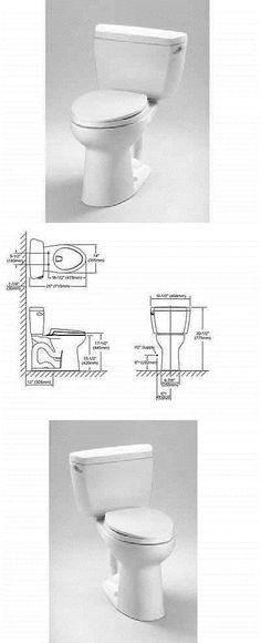 toilets toto drake elongated 2 piece toilet cst744elr01 cotton white 128 gpf