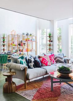Neon-accented living room that really packs a punch.