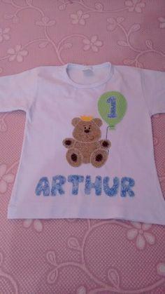 Camiseta de patchwork de aniversario de 1 ano