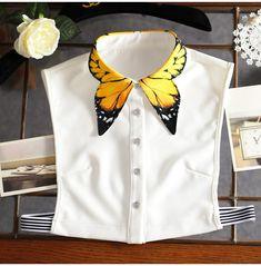 Butterfly Wings Fake Collar Shirt - Source by ramkas - Fashion Details, Diy Fashion, Ideias Fashion, Fashion Outfits, Fashion Design, Korea Fashion, Origami Fashion, White Fashion, Unique Fashion