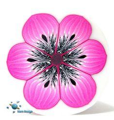 Magenta flower cane