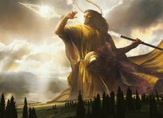 """The Gods of Theros   Magic: the Gathering""""Athreos, God of Passage, by Ryan Barger Ephara, God of the Polis, by Eric Deschamps Erebos, God of the Dead, by Peter Mohrbacher Heliod, God of the Sun, by Jaime Jones Iroas, God of Victory, by Slawomir..."""