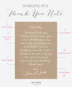 Anatomy of a Thank You Note. Now all your have to do is find your perfect stationery: http://goo.gl/NzwuV7