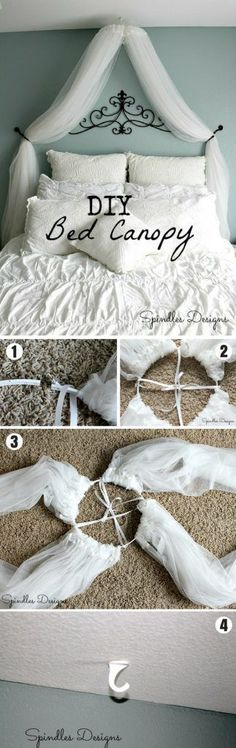 Check out how to make an easy DIY bed canopy