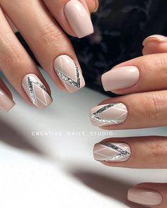 manis that will make you adore squoval nails 37 ~ my.me - manis that will make you adore squoval nails 37 ~ my. Bridal Nails, Wedding Nails, Cute Acrylic Nails, Cute Nails, Pink Nails, My Nails, Art Deco Nails, Nagellack Design, Pretty Nail Art