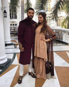 Ranveer Singh and Deepika Padukone during Bajirao Mastani promotions in Lucknow