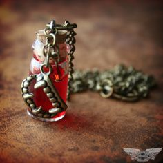 True Blood Inspired Vampire V Blood Necklace Vial. $14.99, via Etsy.