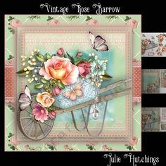 Vintage Rose Barrow Card Front Kit - CUP780559_1483 | Craftsuprint