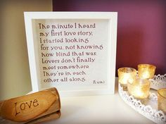 Rumi Framed Quotation  Love  The minute I by MyMumAndMeQuotes