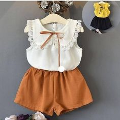 Kids Wear - Buy Kids Clothes & Dresses for Girls Kids Outfits Girls, Toddler Outfits, Girl Outfits, Cute Outfits, Baby Girl Fashion, Toddler Fashion, Kids Fashion, Little Girl Dresses, Girls Dresses
