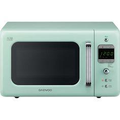 Daewoo Retro Style KOR7LBKM Standard Microwave Oven - Mint