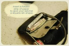 How to make a miniature faux-leather satchel | Source: Bored and Crafty