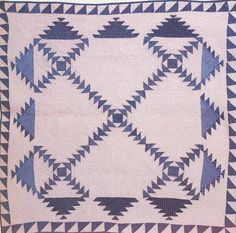 Pieced Crib Quilt, 1865. Ohio.