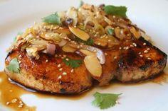 Citrus Glazed Swordfish Almondine recipe on Food52